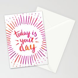 Today is Your Day (PINK) Stationery Cards