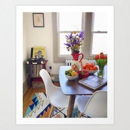 Bright Dining Room Art Print