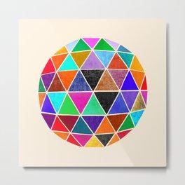 Geodesic 3 Metal Print
