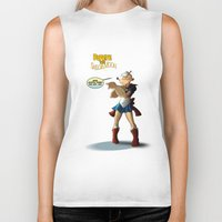 popeye Biker Tanks featuring Popeye the Sailor Moon by bluthan