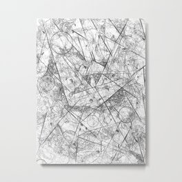 Abstract crystal pendulum Metal Print