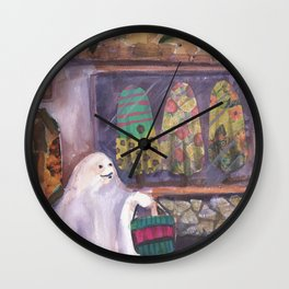 he needs new clothes Wall Clock