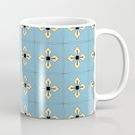 Blue and Yellow Quilted Pattern Coffee Mug