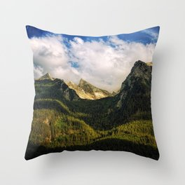 All That Is Above - Mountainscape Throw Pillow