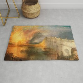 """J. M. W. Turner """"The Burning of the Houses of Lords and Commons""""(1834) Rug"""