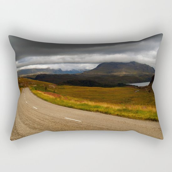 The Road to Poolewe Rectangular Pillow