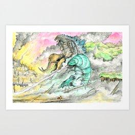 Titans Restore the Rainforest Art Print