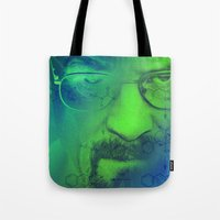 breaking bad Tote Bags featuring Breaking Bad by Scar Design