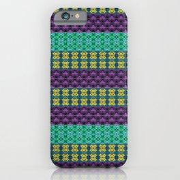 Mardi Gras Colors iPhone Case