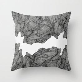 Line ridge Throw Pillow