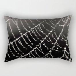 Architecture of a Spiderweb Closeup Rectangular Pillow