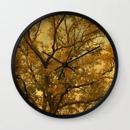 Autumn Massive Tree Yellow Wall Clock