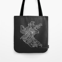 stockholm Tote Bags featuring STOCKHOLM by Nicksman