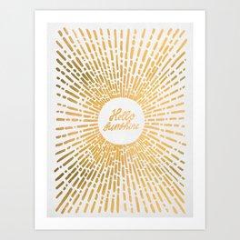 Hello Sunshine Gold Art Print
