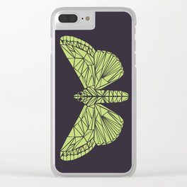 The envy of the moth - Geometric design Clear iPhone Case