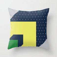 2d illusion Throw Pillow