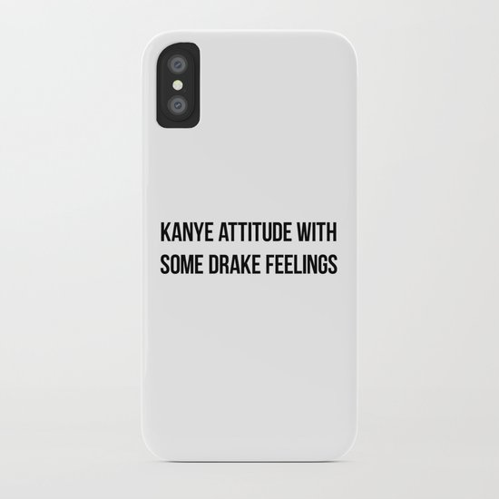 Attitude and Feelings iPhone Case