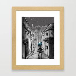 Uphill road Framed Art Print