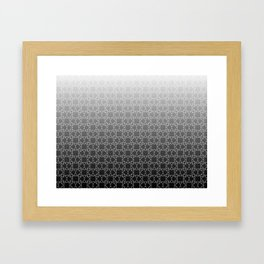 Geometry Star Pattern Black White Framed Art Print
