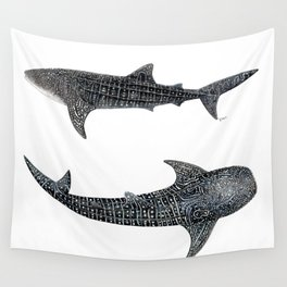 Whale sharks Wall Tapestry