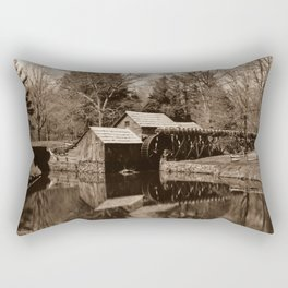 Mabry Mill (Sepia) Rectangular Pillow