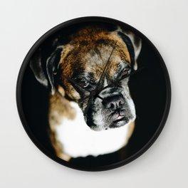 Boxer Dog Wall Clock