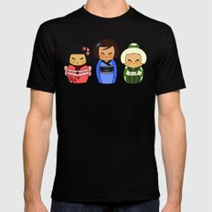 kokeshis (Japanese dolls) MEDIUM Mens Fitted Tee Black
