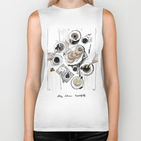 breakfast Biker Tanks featuring Breakfast by Ksenia Sapunkova