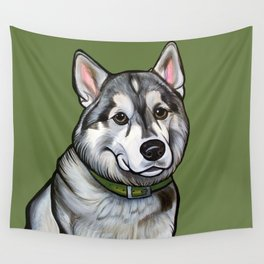 Aspen the Husky Wall Tapestry