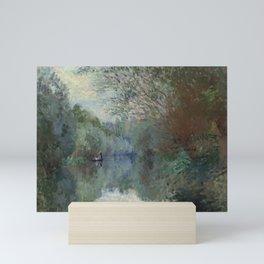 """Claude Monet """"Saules au bord de Lyerres (Willows on the edge of Lyerres)"""" Mini Art Print"""