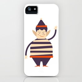 Santa's elf says HI iPhone Case