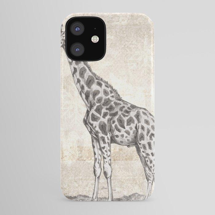 Giraffe Sketch Monochrome Iphone Case By Nocolordesigns Society6