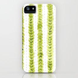Leaf Pattern in Watercolour iPhone Case