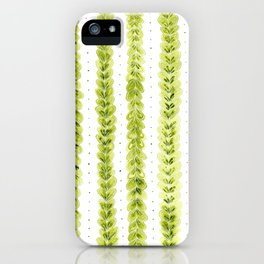 Leaf Pattern in Watercolour iPhone Case