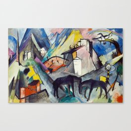 "Franz Marc ""The Unfortunate Land of Tyrol"" Canvas Print"