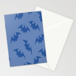 Blue Bats Stationery Cards