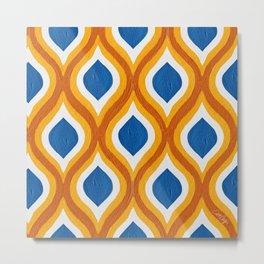 Optical Waves – Fire Palette Metal Print