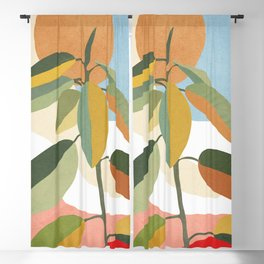 Colorful Branching Out 33 Blackout Curtain