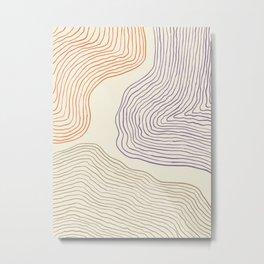 Modern Minimal Abstract #2 Metal Print