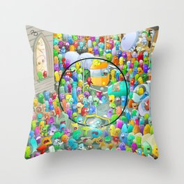 Amorfizing circle Throw Pillow