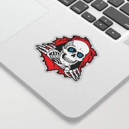 SKULL GIVE A SURPRISE Sticker