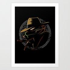 Undercover Ninja Mikey Art Print