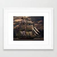 sailing Framed Art Prints featuring Sailing by Kristiana Art Prints