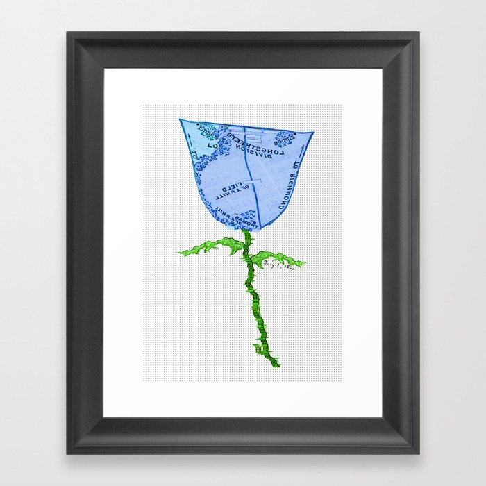 Strange Flora #002 Gerahmter Kunstdruck