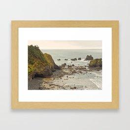 Ecola Point, Oregon Coast, hiking, adventure photography, Northwest Landscape Framed Art Print
