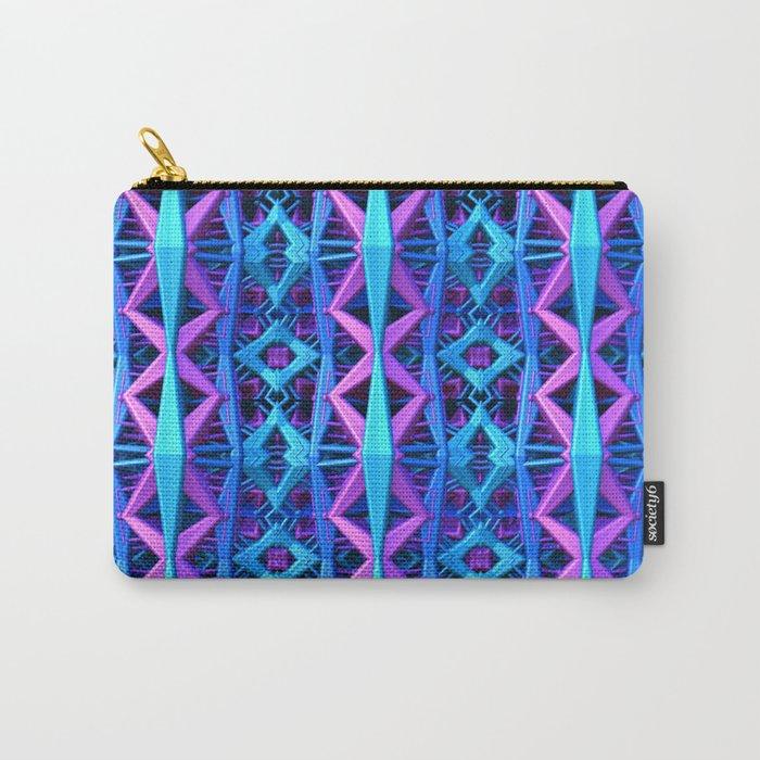Blue/Purple Metallic Pattern Carry-All Pouch