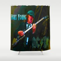 dc Shower Curtains featuring AC/DC by Don Kuing