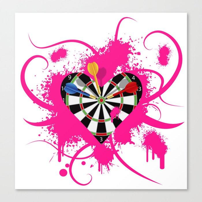 Dartboard Romance Canvas Print