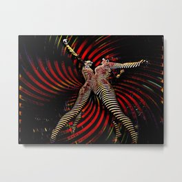 0725-PDJ+NIS Sisters Power Bump Color Abstract Art Zebra Stripe Metal Print