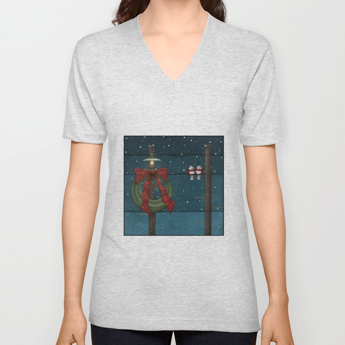 There's a Feeling of Christmas Unisex V-Neck